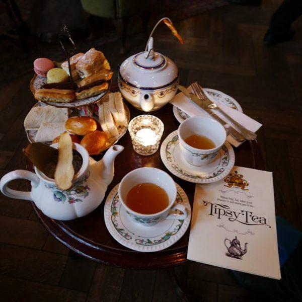 TIPSY TEA WITH MR. FOGG IN MAYFAIR