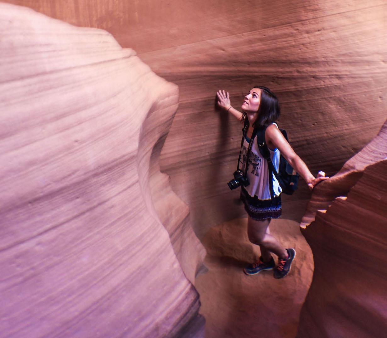 Walking-through-Lower-Antelope-Canyon