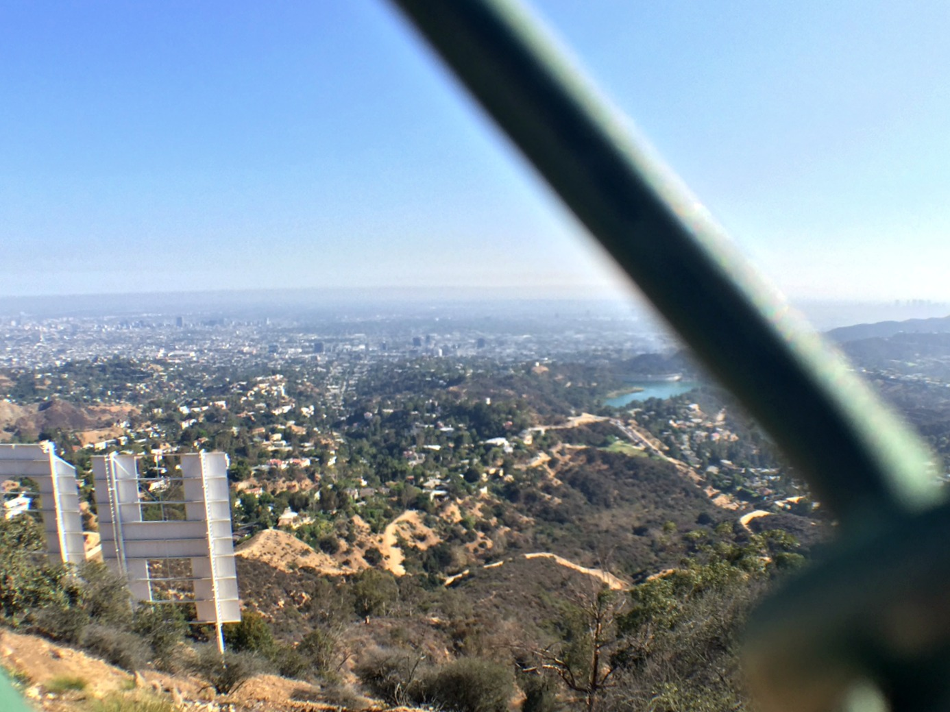 Hollywood-sign-through-fencing