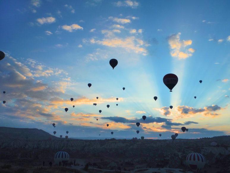 Sunset Hot Air Ballooning in Cappadocia, Turkey
