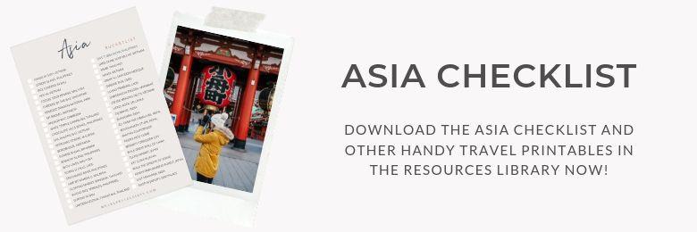Asia Checklist