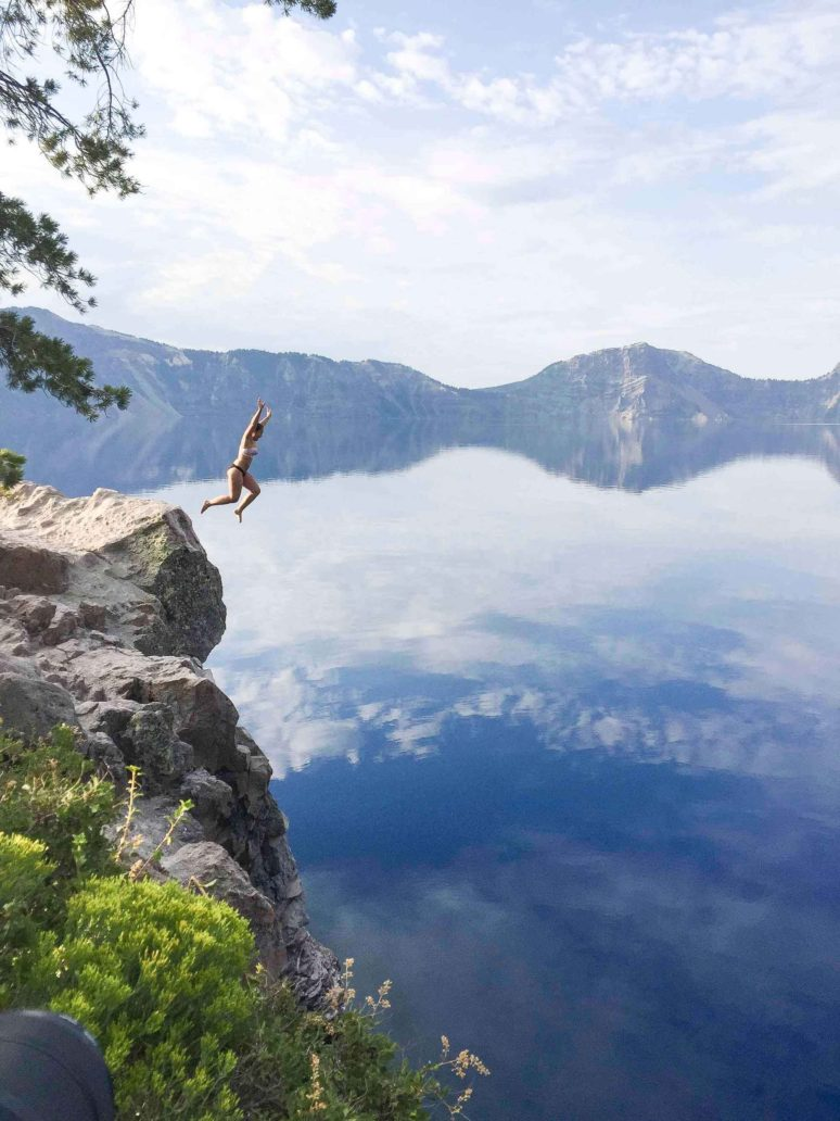 DO YOU DARE TO JUMP AT CRATER LAKE, OREGON