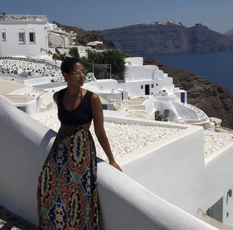 LADIES WE LOVE MAXINE OUTERBRIDGE OF BUNGEE GIRL max in santorini