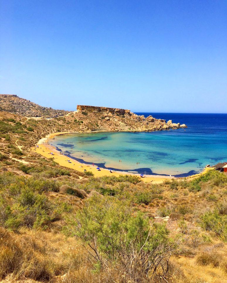 MALTA- 10 PLACES TO EXPLORE IN THE MALTESE ARCHIPELAGO Għajn_Tuffieħa_Bay_Malta