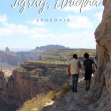 hiking rock churches tigray, ethiopia