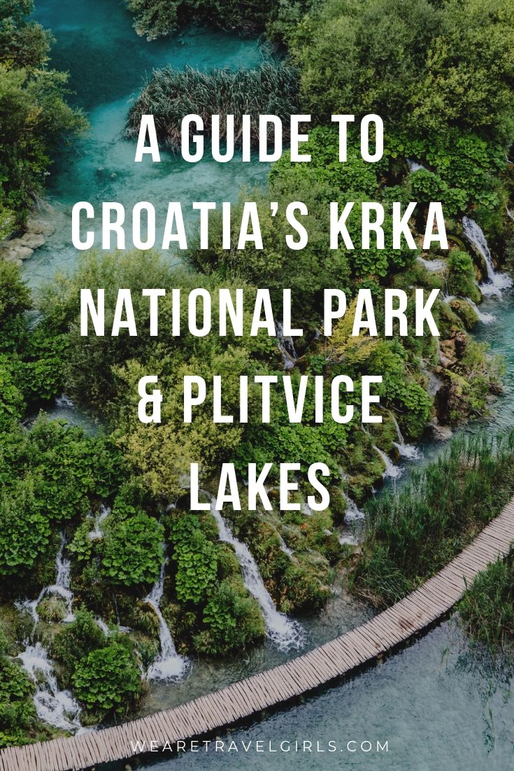 Pinterest Cover: A GUIDE TO CROATIA'S KRKA NATIONAL PARK & PLITVICE LAKES