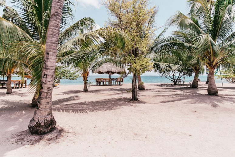 Cowrie Island in Honda Bay, Philippines