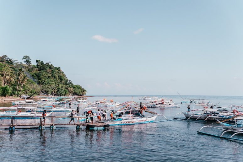 Boarding Boats for Puerto Princesa Underground River Tour