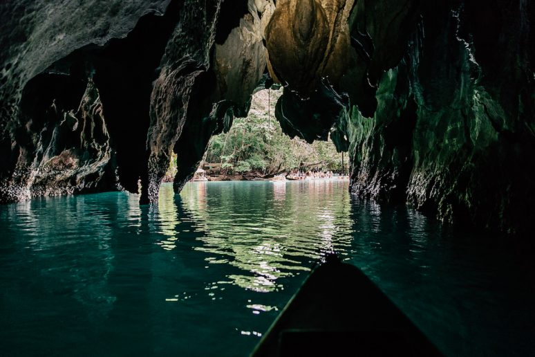 Inside the Underground River Cave in Philippines