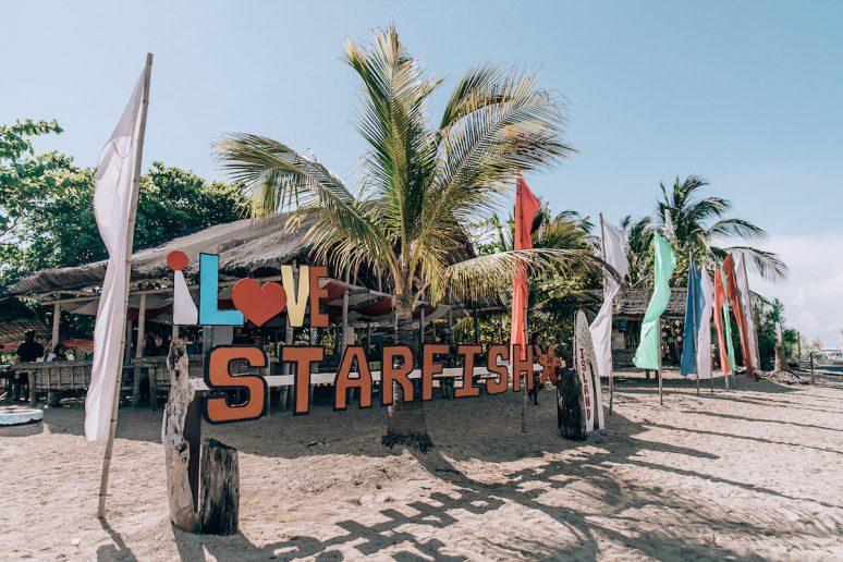 Starfish Island in Honda Bay, Phillipines