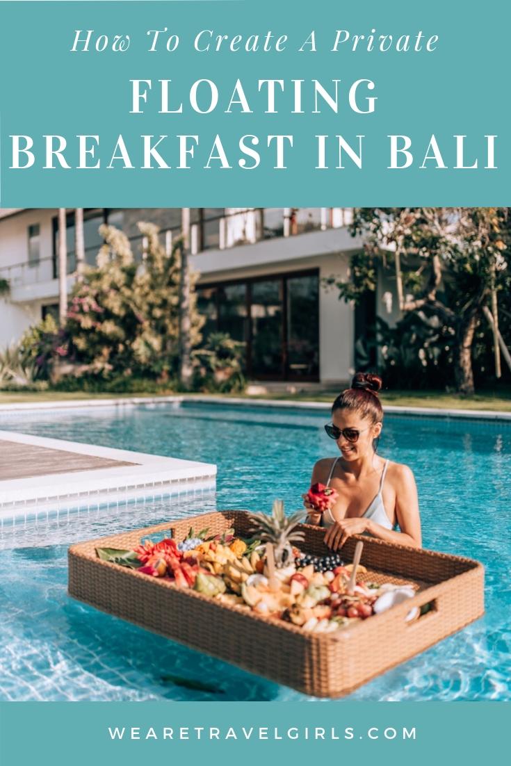 Bali Island Graze Floating Breakfast