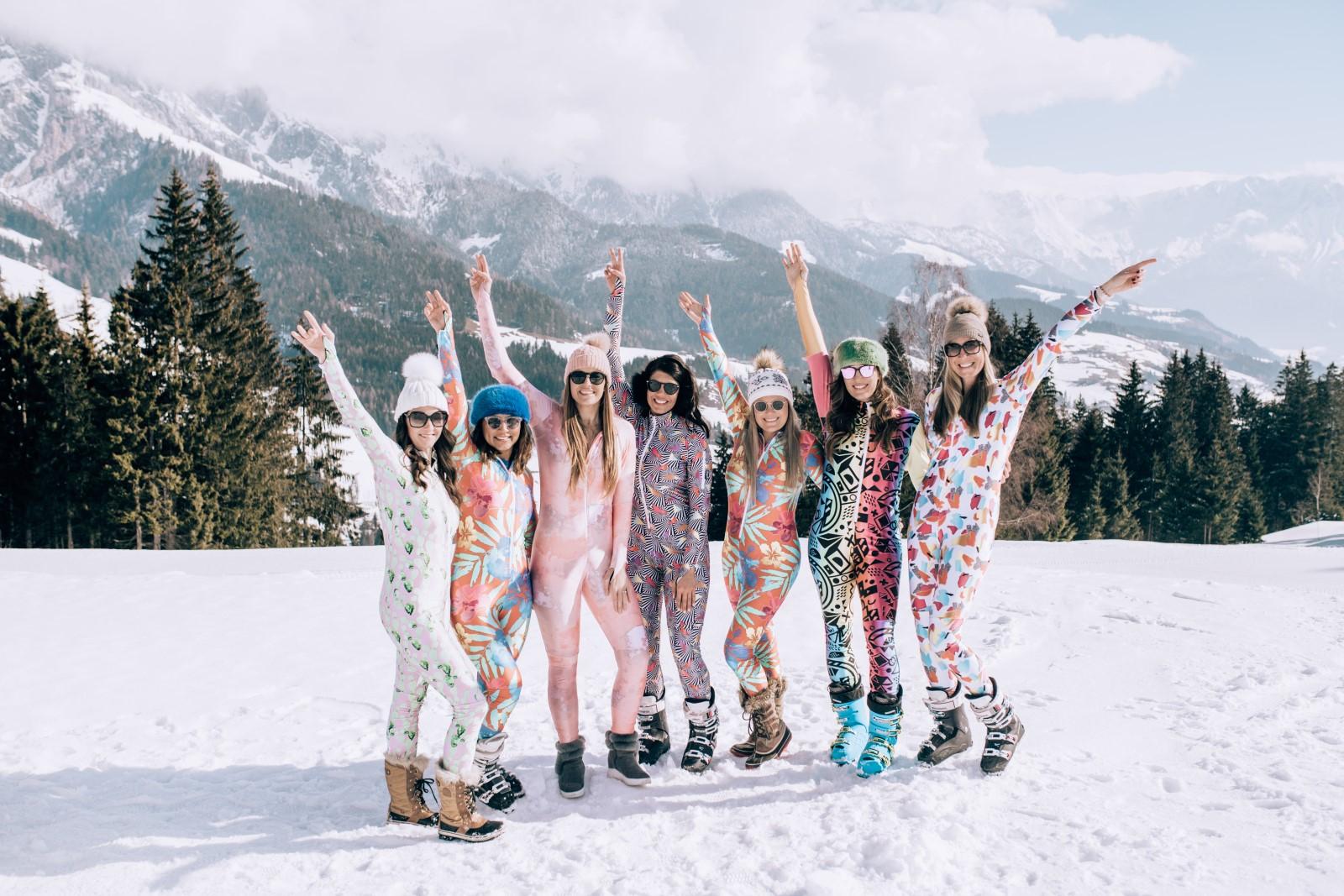 racysuits we are travel girls austria ski trip