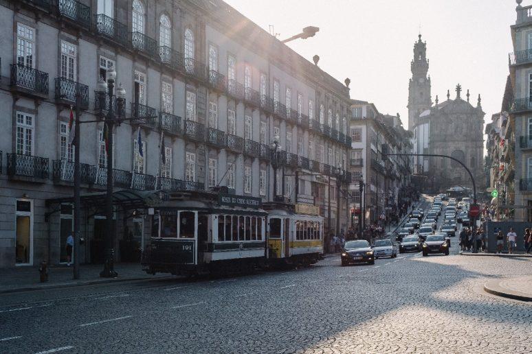 Porto Street and Trolly