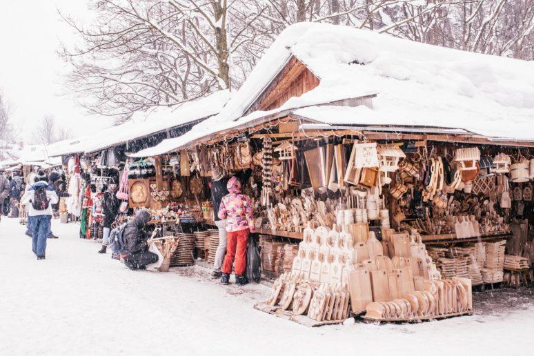 Vendor stall in Zakopane