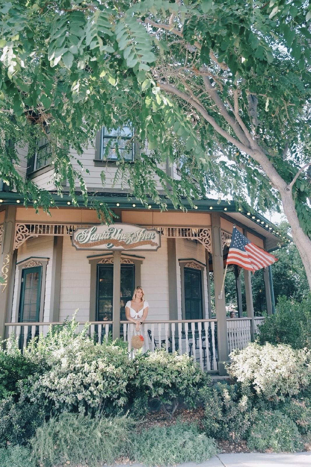 Highway 1 Road Trip - Santa Ynez Inn Front Porch