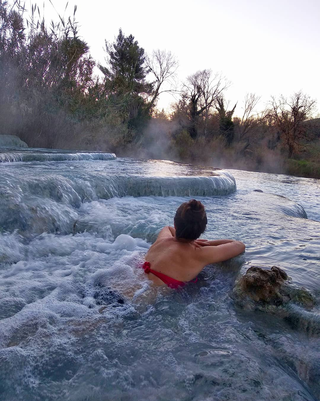 VISITING THE CASCATE DEL MULINO HOT SPRINGS IN ITALY