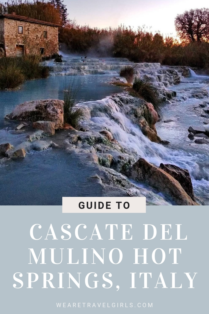 cascate del mulino hot springs italy