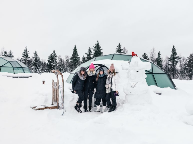 Girls Getaway Glass Igloos Lapland, Finland
