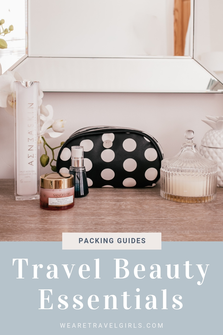 Top Travel Beauty Essentials by Becky van Dijk for We Are Travel Girls