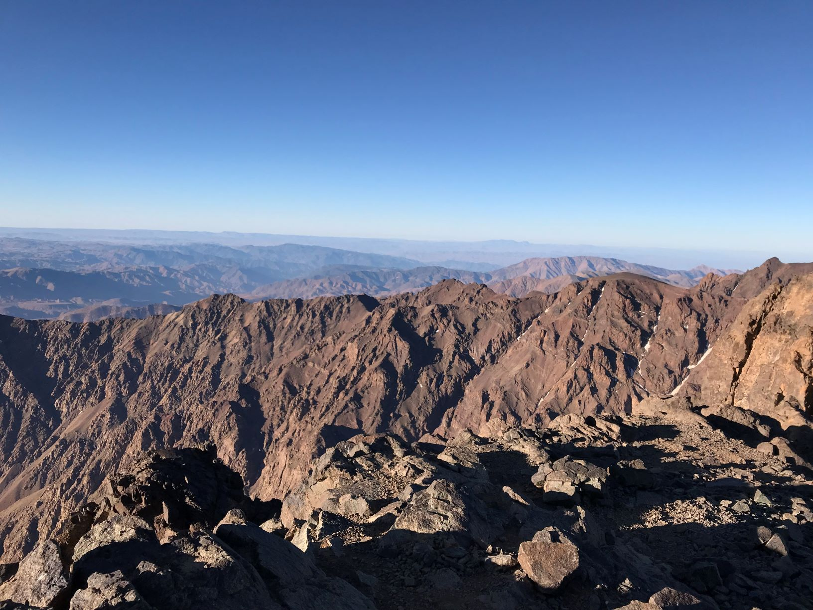 View From Summit of Jebel Toubkal