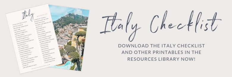 we are travel girls italy checklist