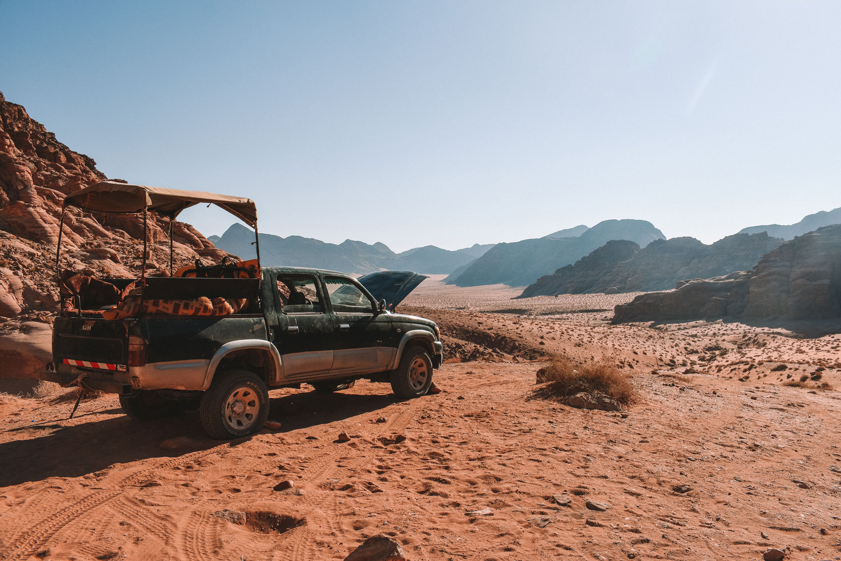 Open Jeep in Wadi Rum Desert