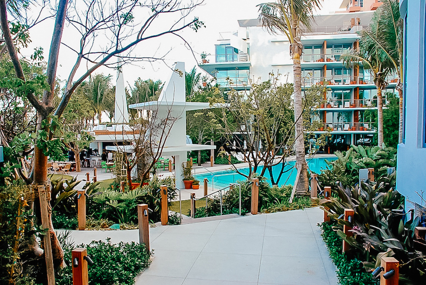 The Miami Beach EDITION Hotel Pool and Grounds