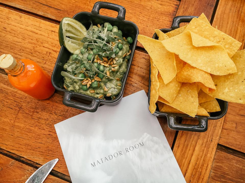 Chips and guacamole at the Matador Room in Miami