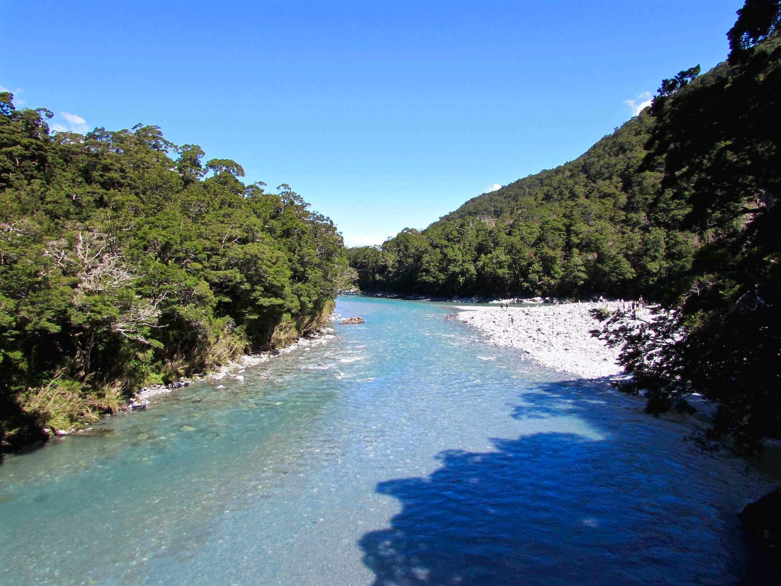 Blue Pools in New Zealand