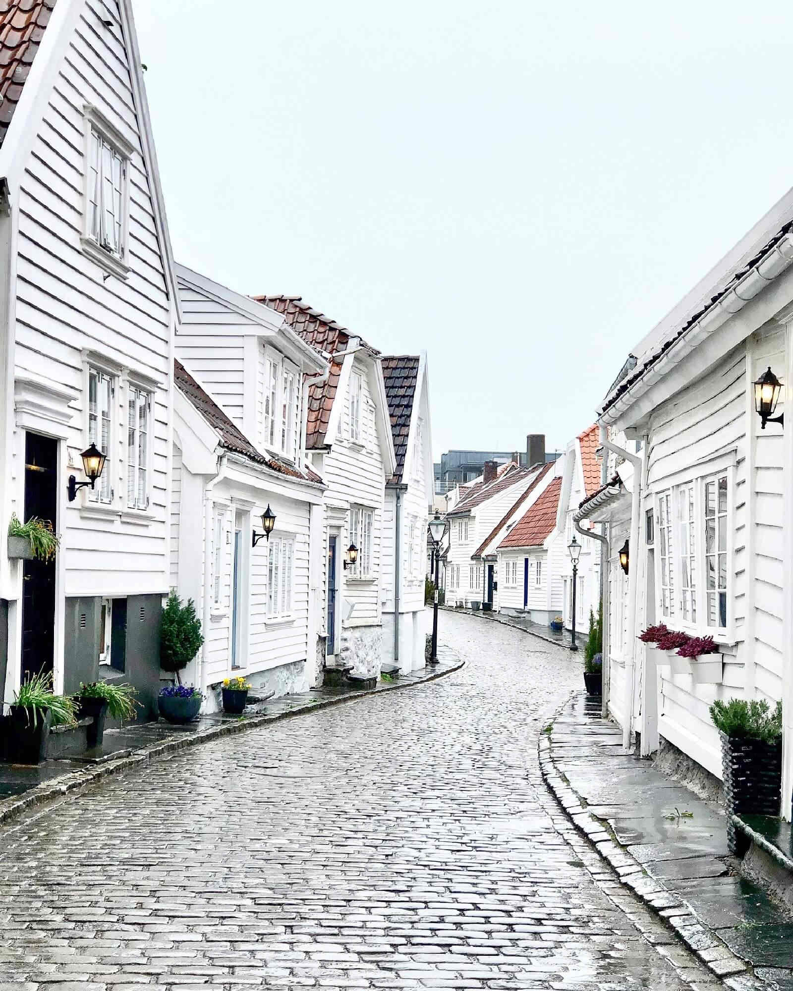 Stavanger town streets and buildings