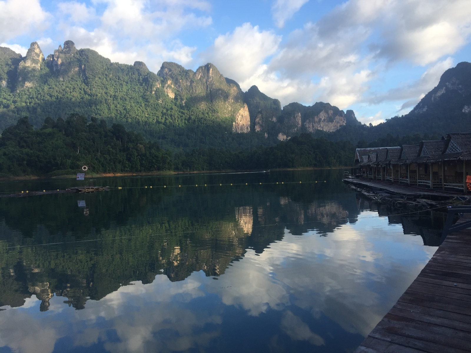 Overwater bungalows at Khao Sok National Park