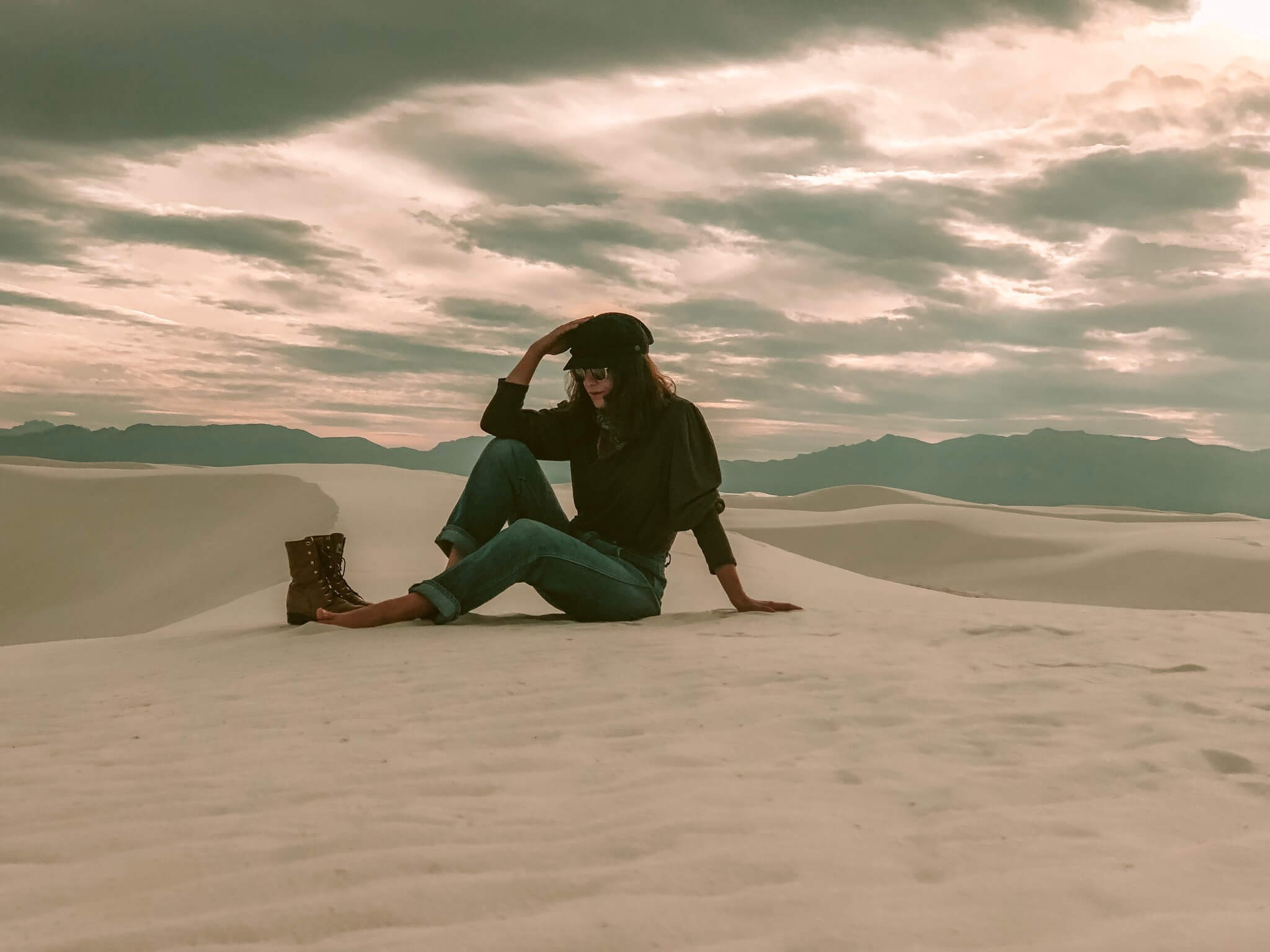 Woman at White Sands National Monument