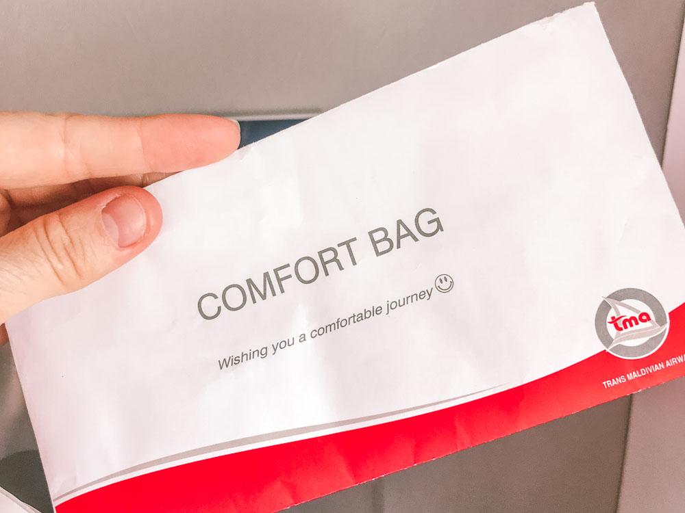 Comfort bag on Trans Maldivian Airways
