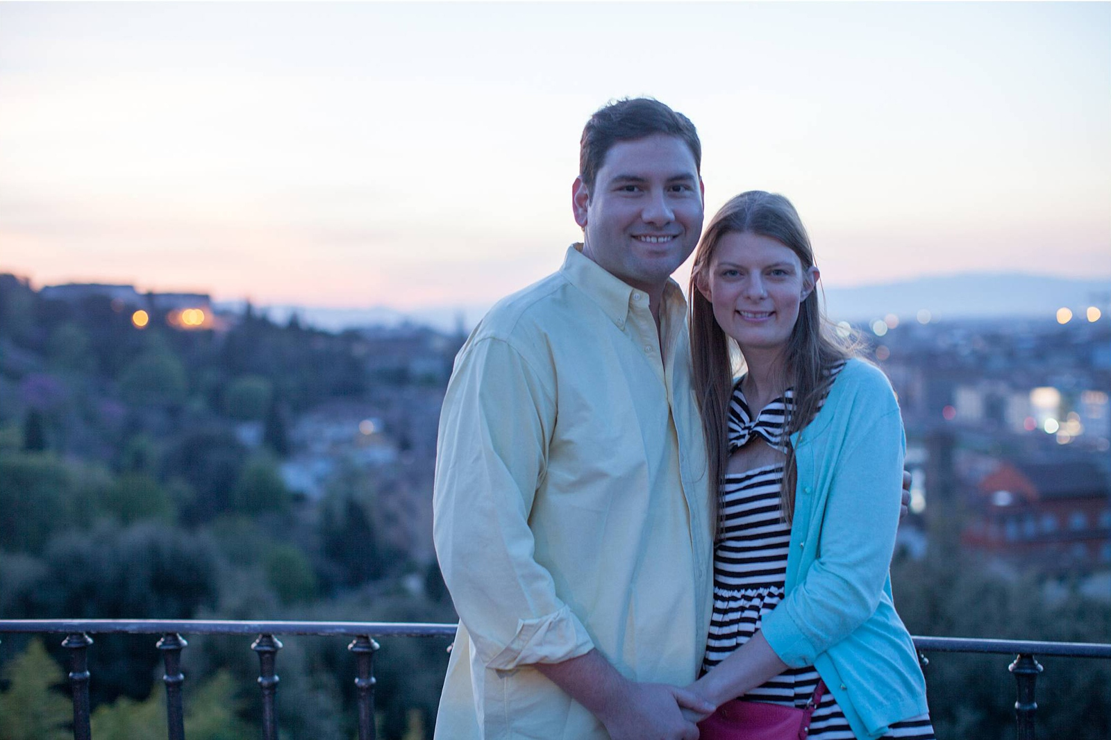 Honeymoon couple in Florence