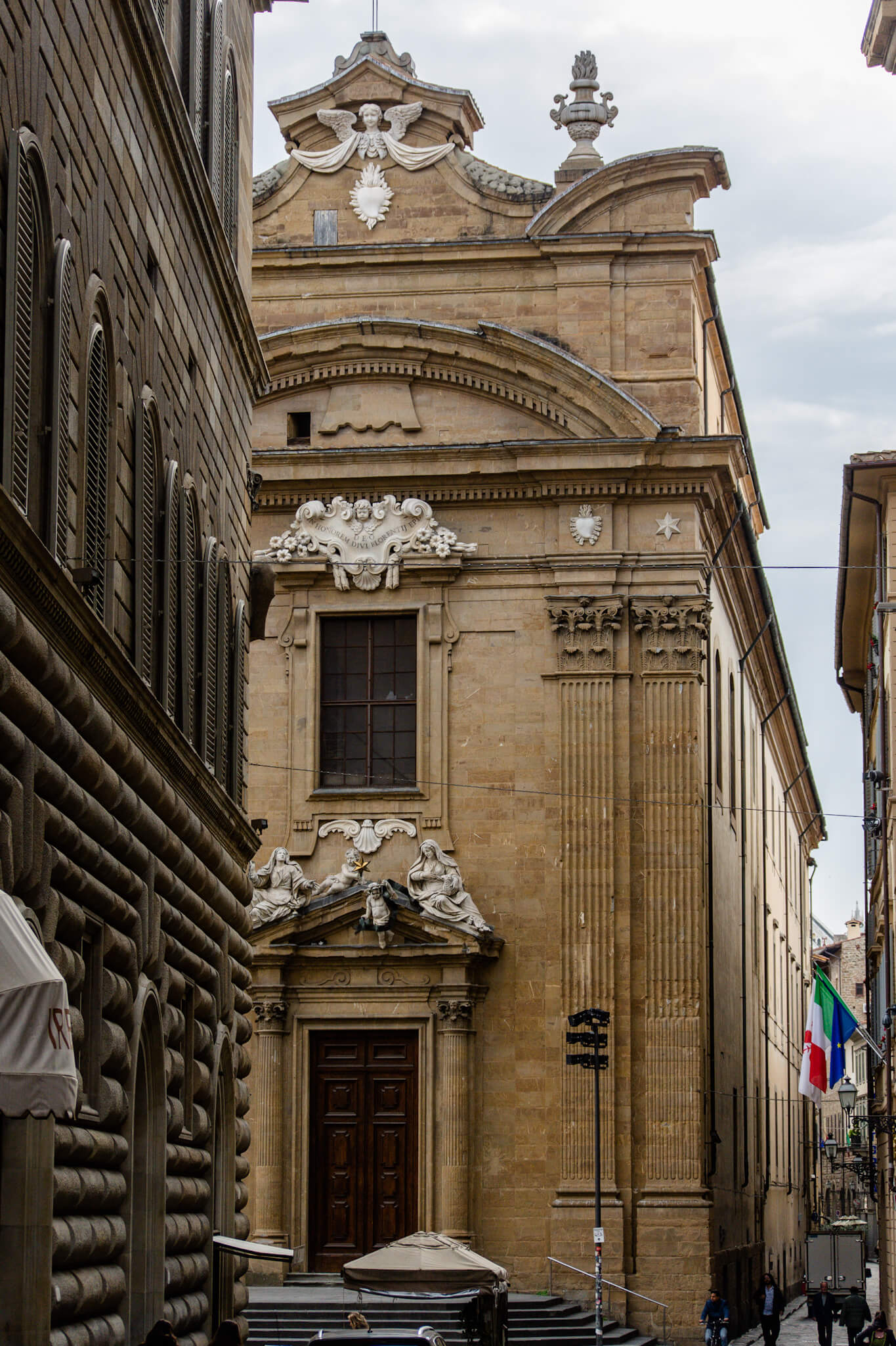 Streets of Florence on a walking tour