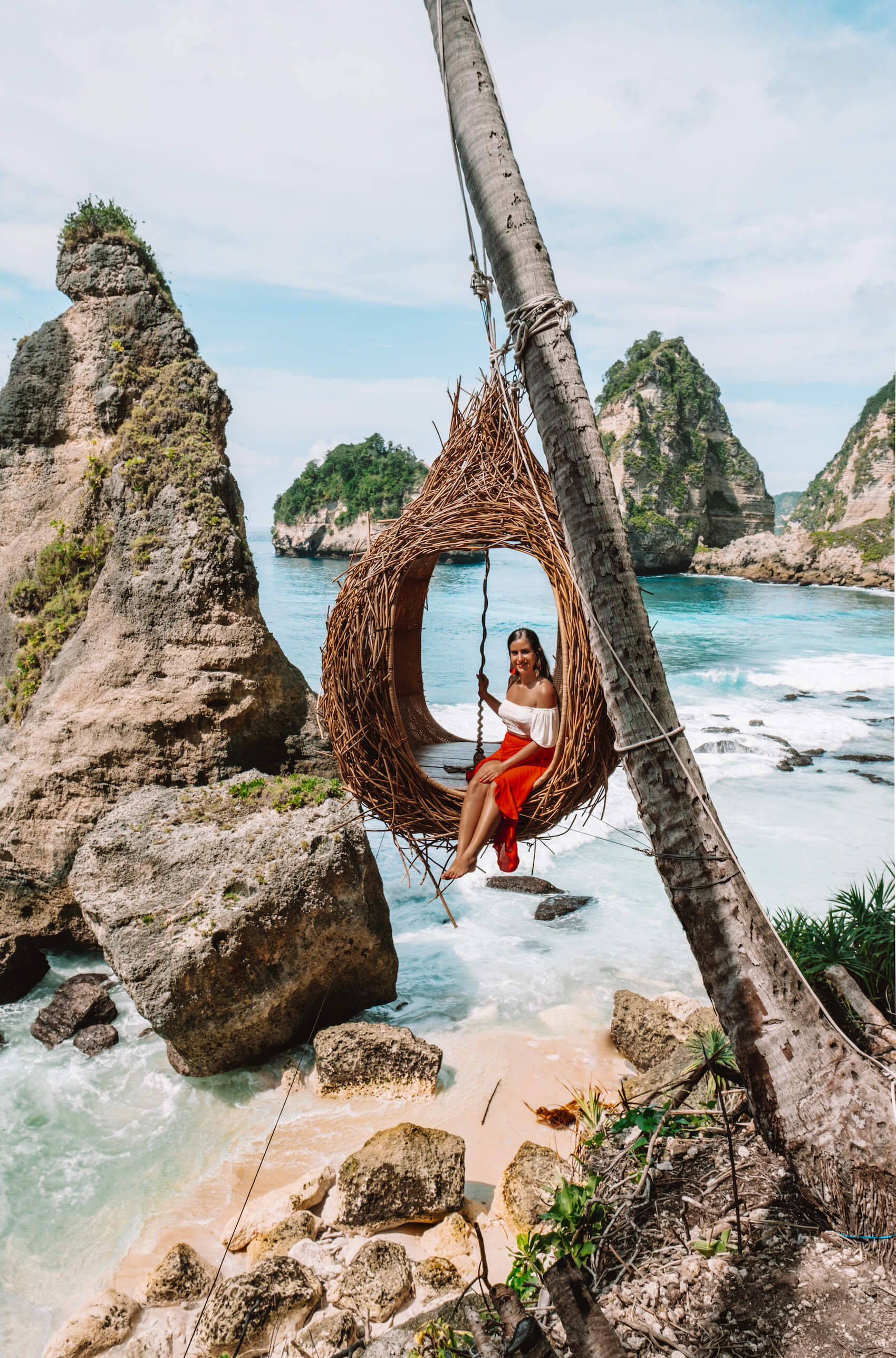 Tree swing at Diamond Beach