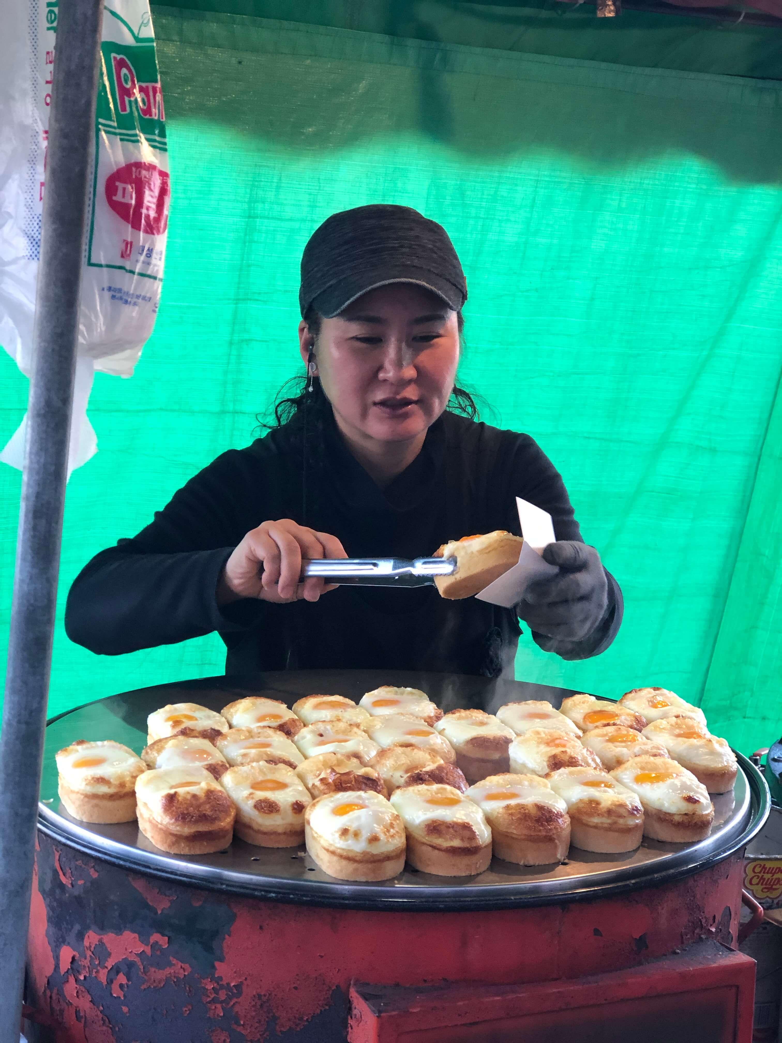 Egg bread in South Korea