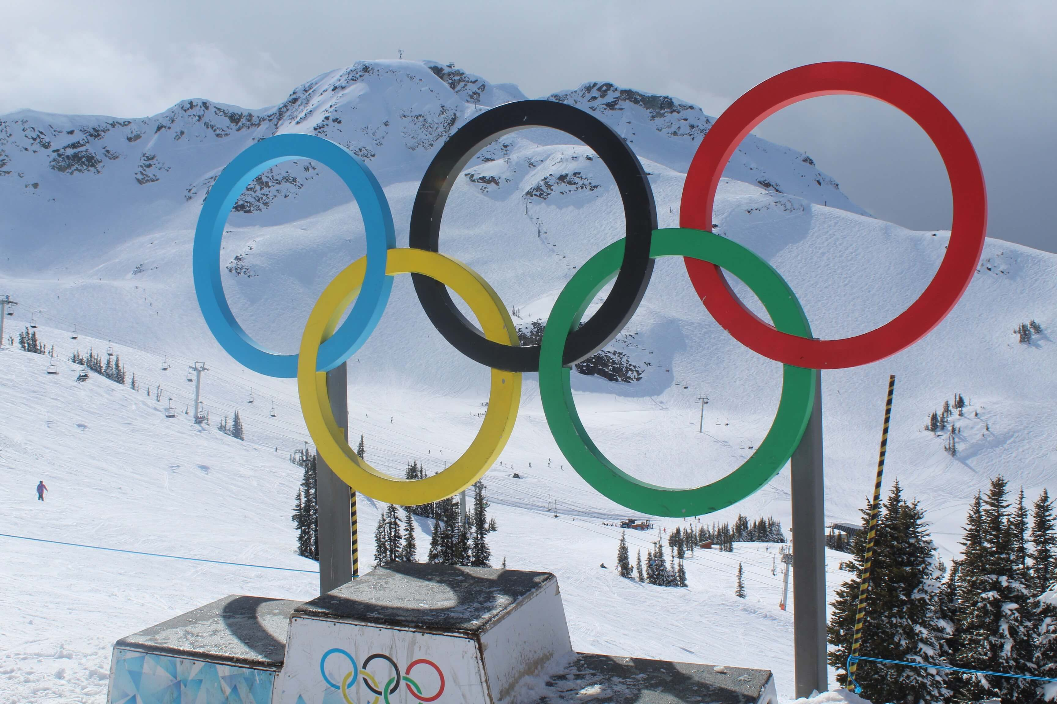 Olympic rings at Whistler Village