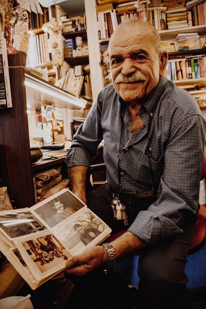 Man in Helabi bookshop