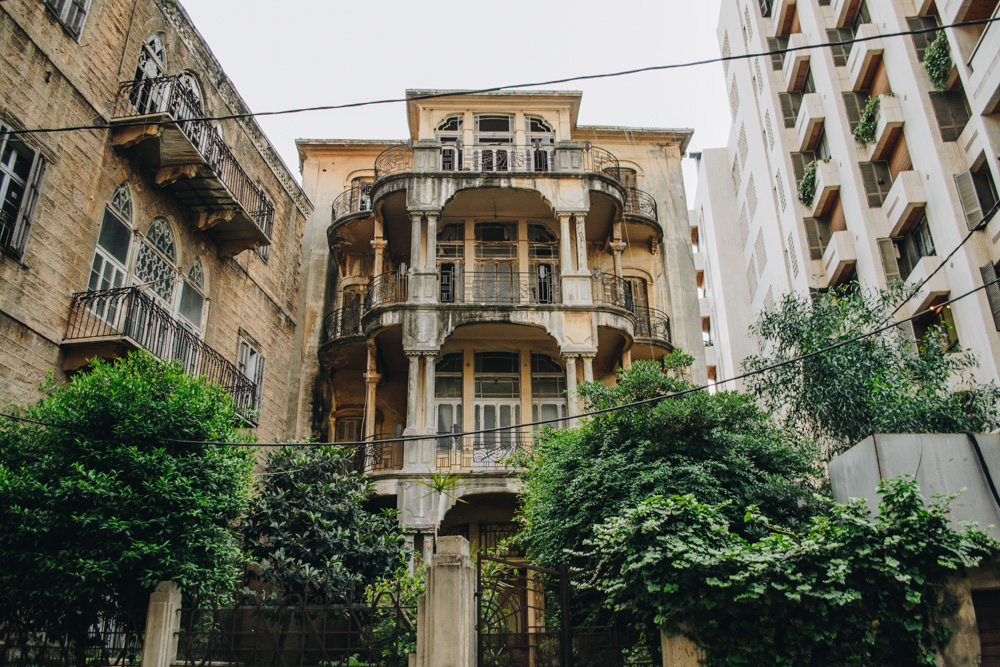 Yellow building in Beirut