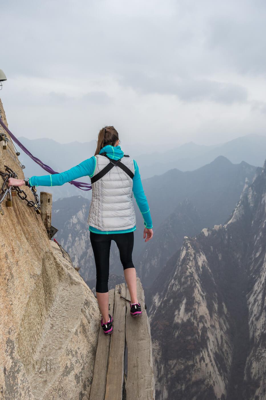 Mount Huashan plank walk