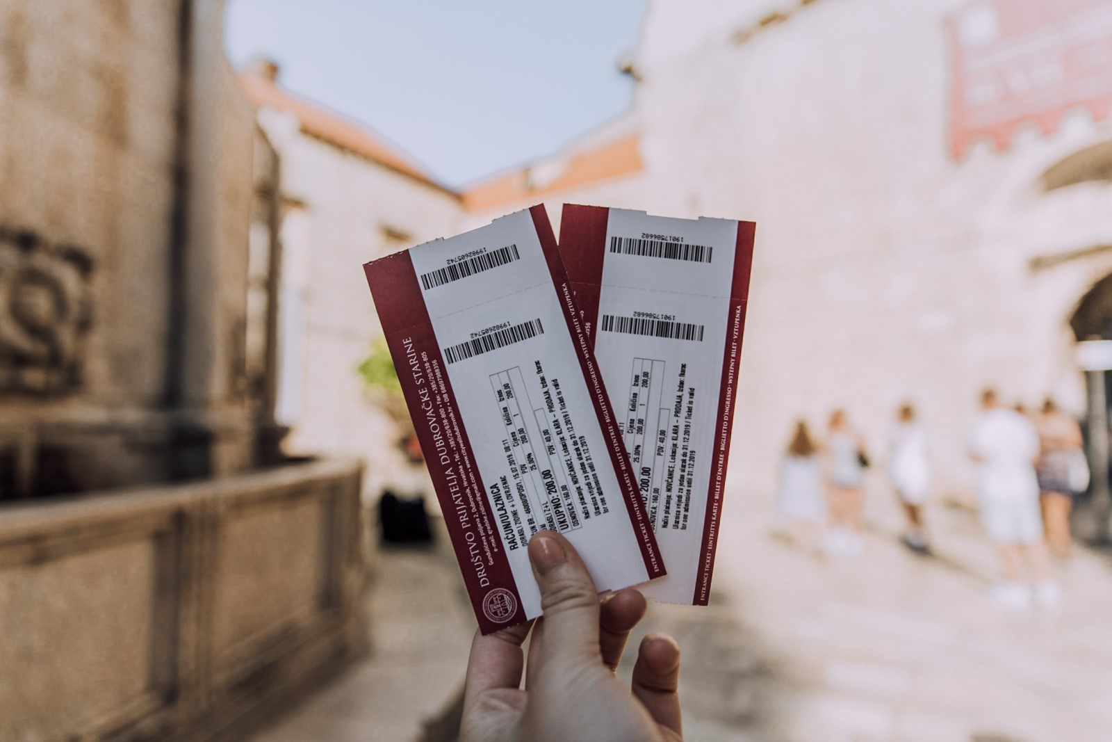Tickets to enter Dubrovnik City Walls