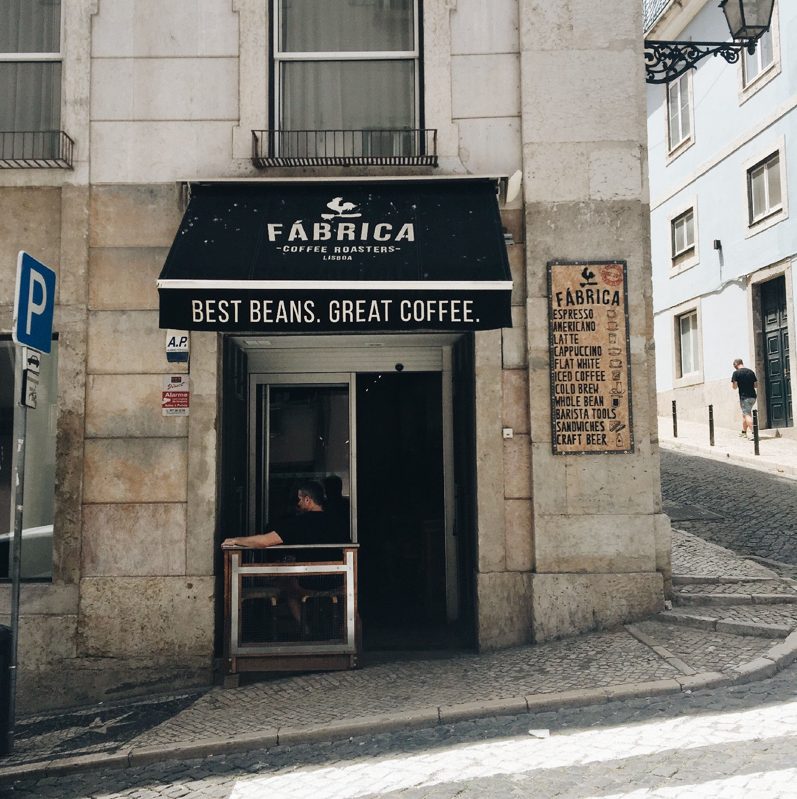Front Entrance of Fabrica Coffee Roasters in Lisbon