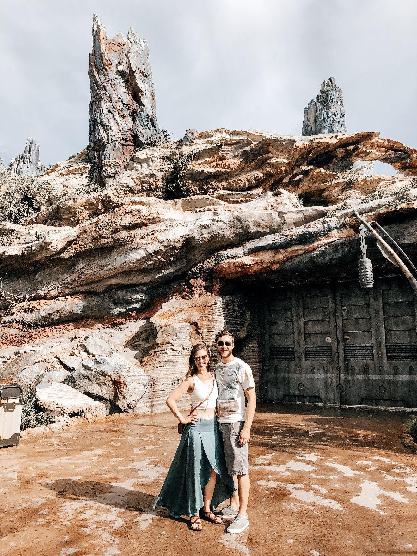Couple at Star Wars Galaxy's Edge