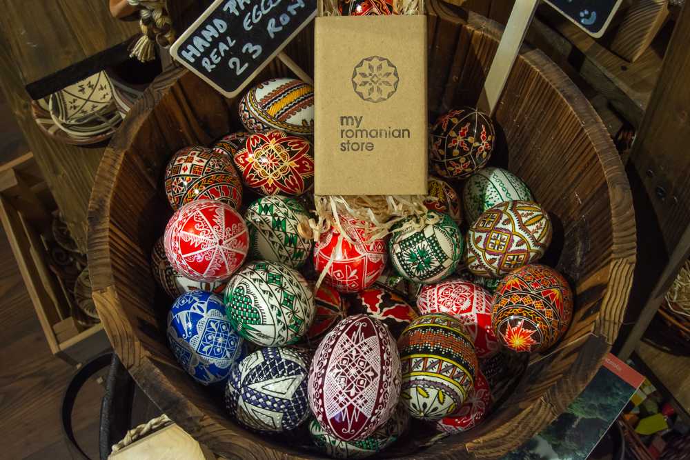 Decorated eggs at My Romanian Store