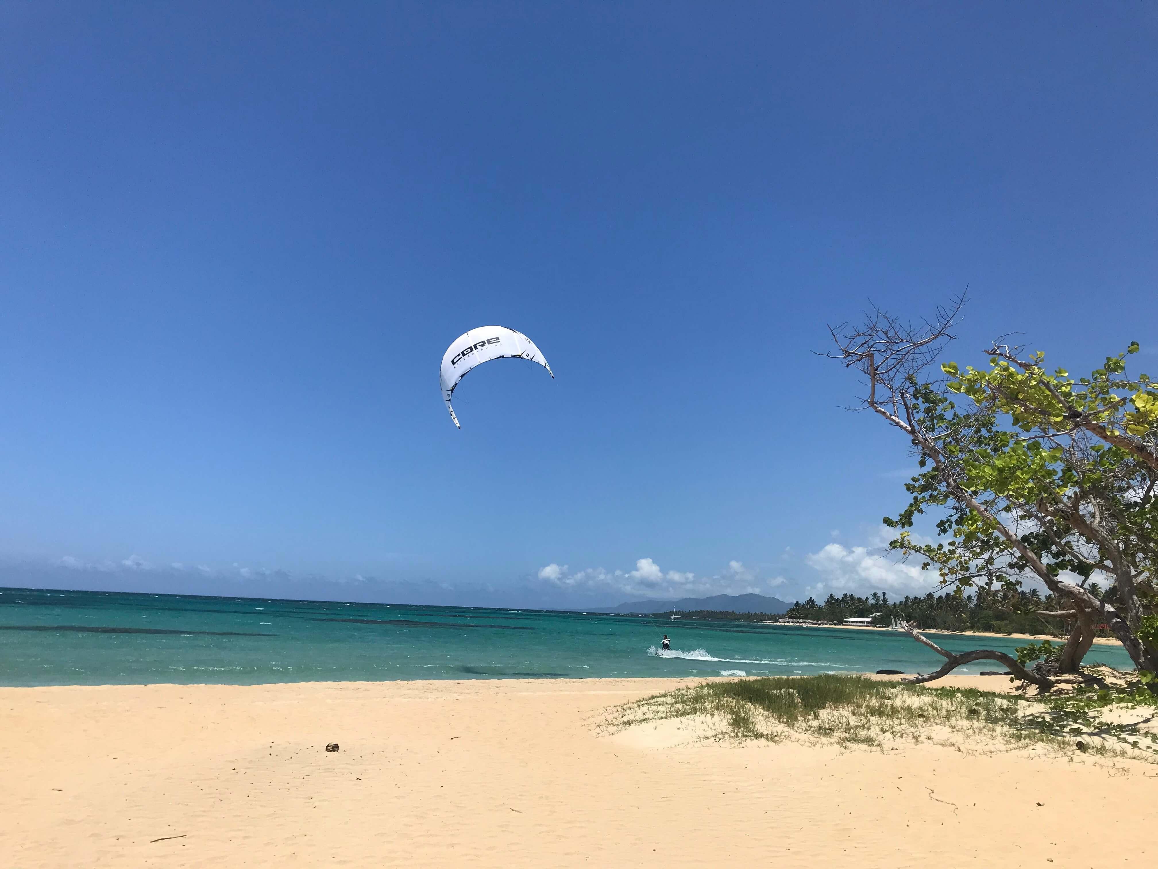 White kiteboard in Las Terrenas