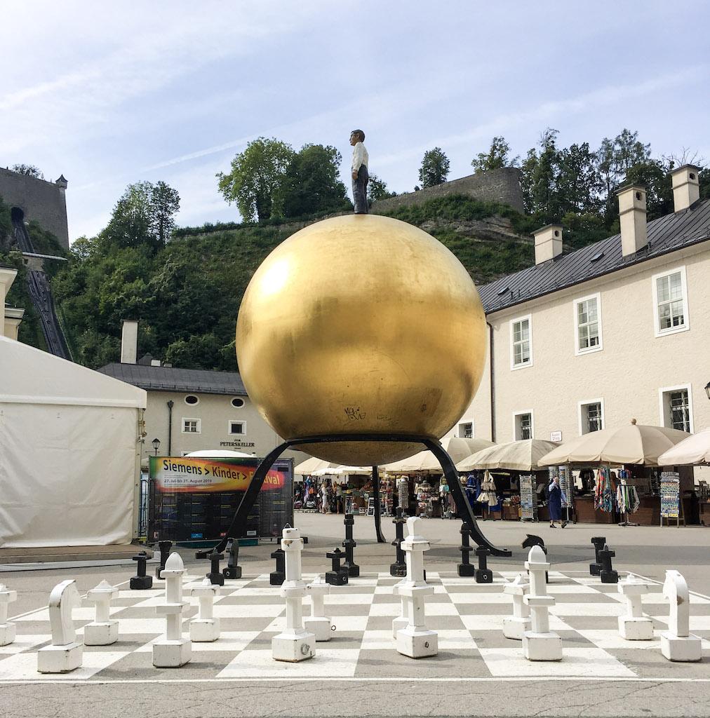 Chessboard on Kapitelplatz Square