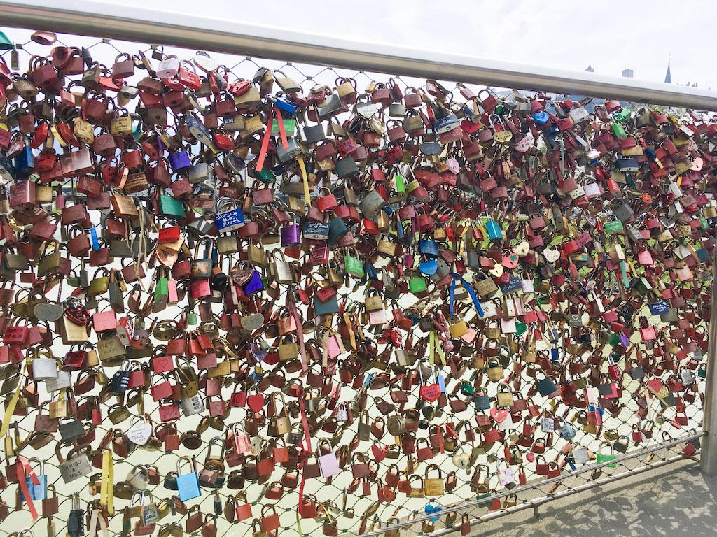 Bridge with Locks in Salzburg