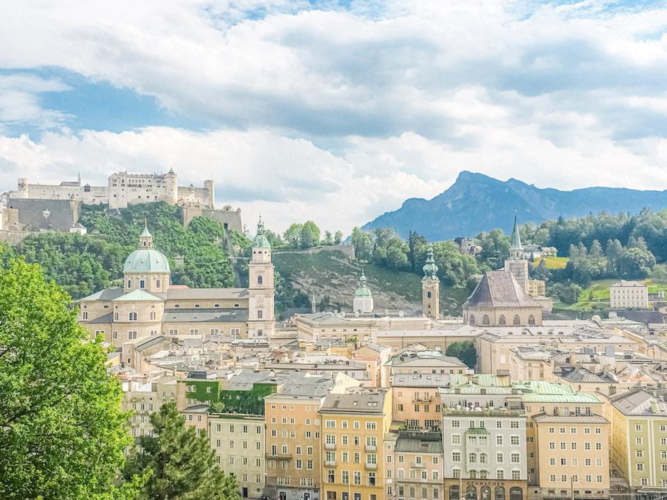 View of Salzburg from Kaupzinerberg Mountain