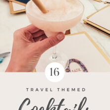 travel themed cocktails pinterest cover